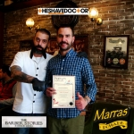Th diploma with the master barber