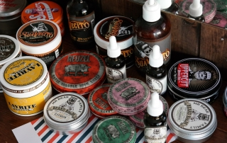 Pomades and Beard Care products