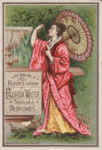 Διαφήμιση λιθογραφίας από το 1881 που προωθεί την Florida Water.